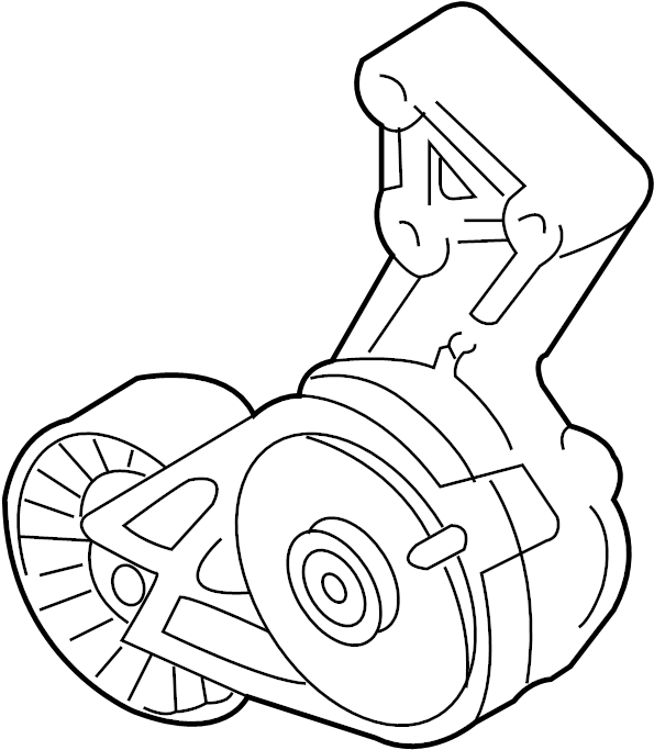 2006 Audi Accessory Drive Belt Tensioner Assembly