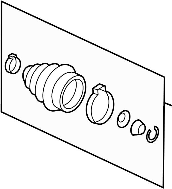2001 Audi Cv joint boot kit. Trans, left, manual