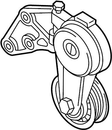 Audi Q7 Accessory Drive Belt Tensioner Assembly