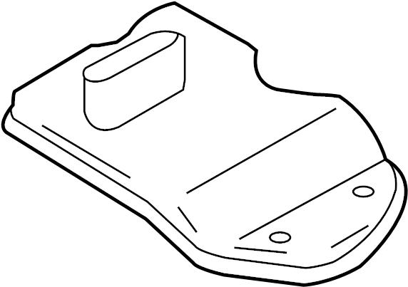 2011 Audi Strainer. Transmission filter. Filter to remove