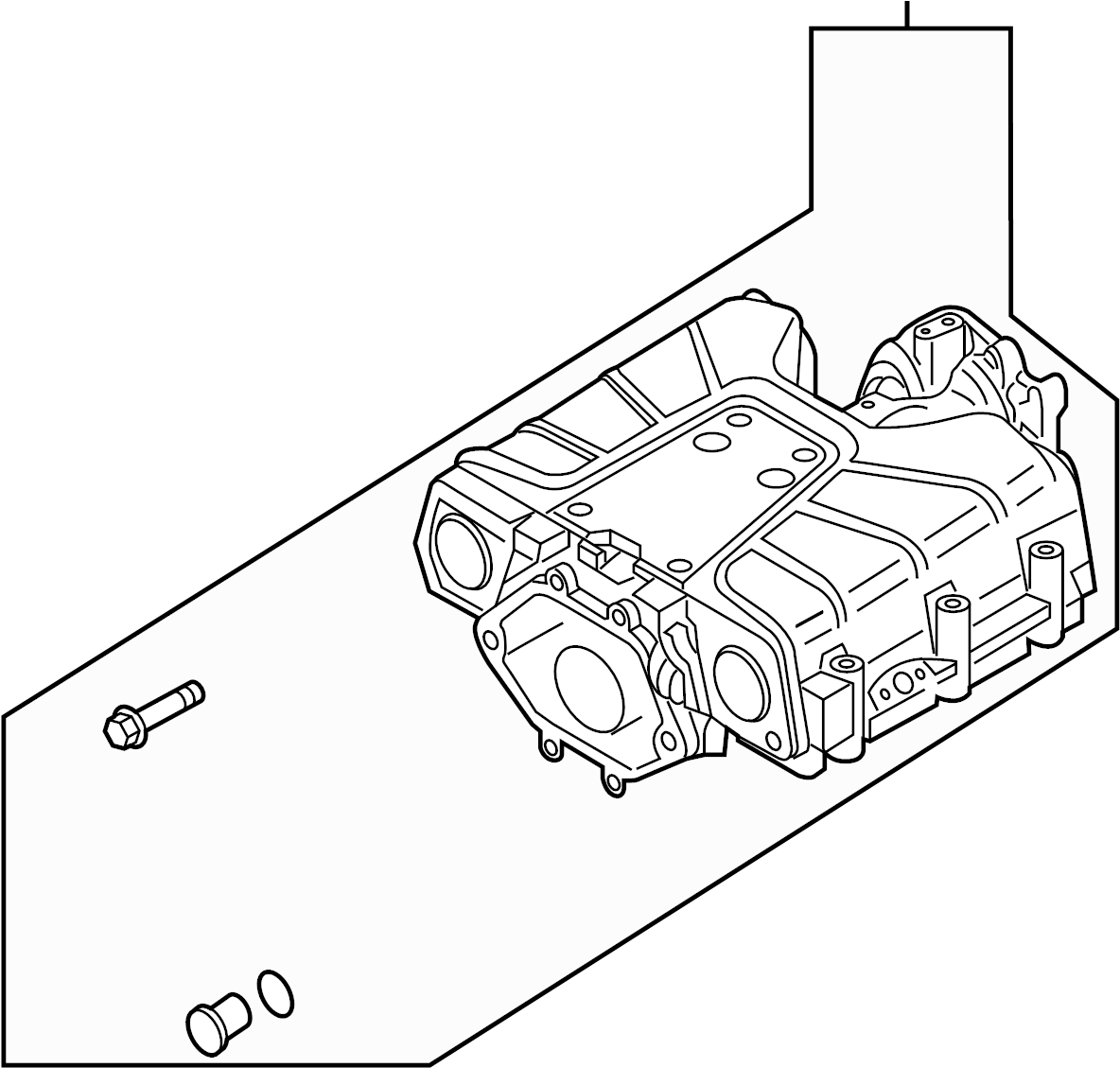 2014 Audi Compressor assembly. Gas, supercharger, engine