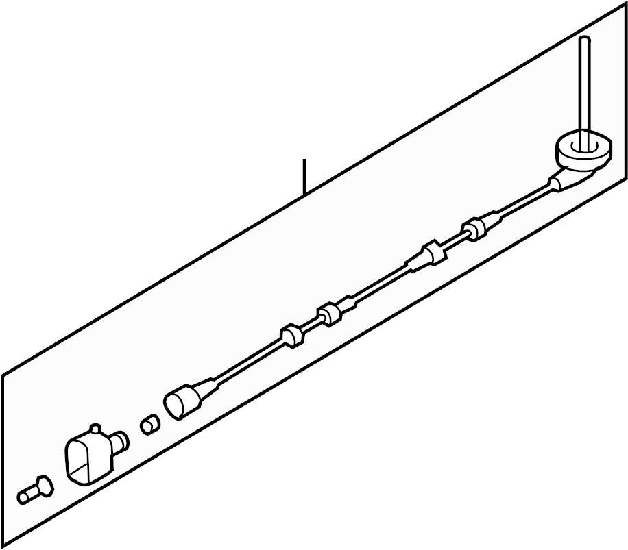 2015 Audi Q3 Sensor. Harness. ABS. Wire. FWD. FWD, w/o