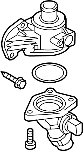 2009 Audi TT Engine Coolant Thermostat Kit. WTiming, Belt