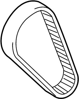 2013 Audi A5 Drive belt. Engine Timing Belt. TOOTH BELT