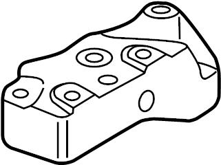 2012 Audi Mount. Bracket. TRANSMISSION. Brace. Lower