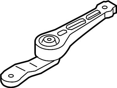 2015 Audi A3 Support. Bracket. Engine. (Rear). LITER