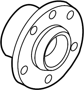 Audi A3 Wheel Bearing and Hub Assembly (Rear). Autobahn
