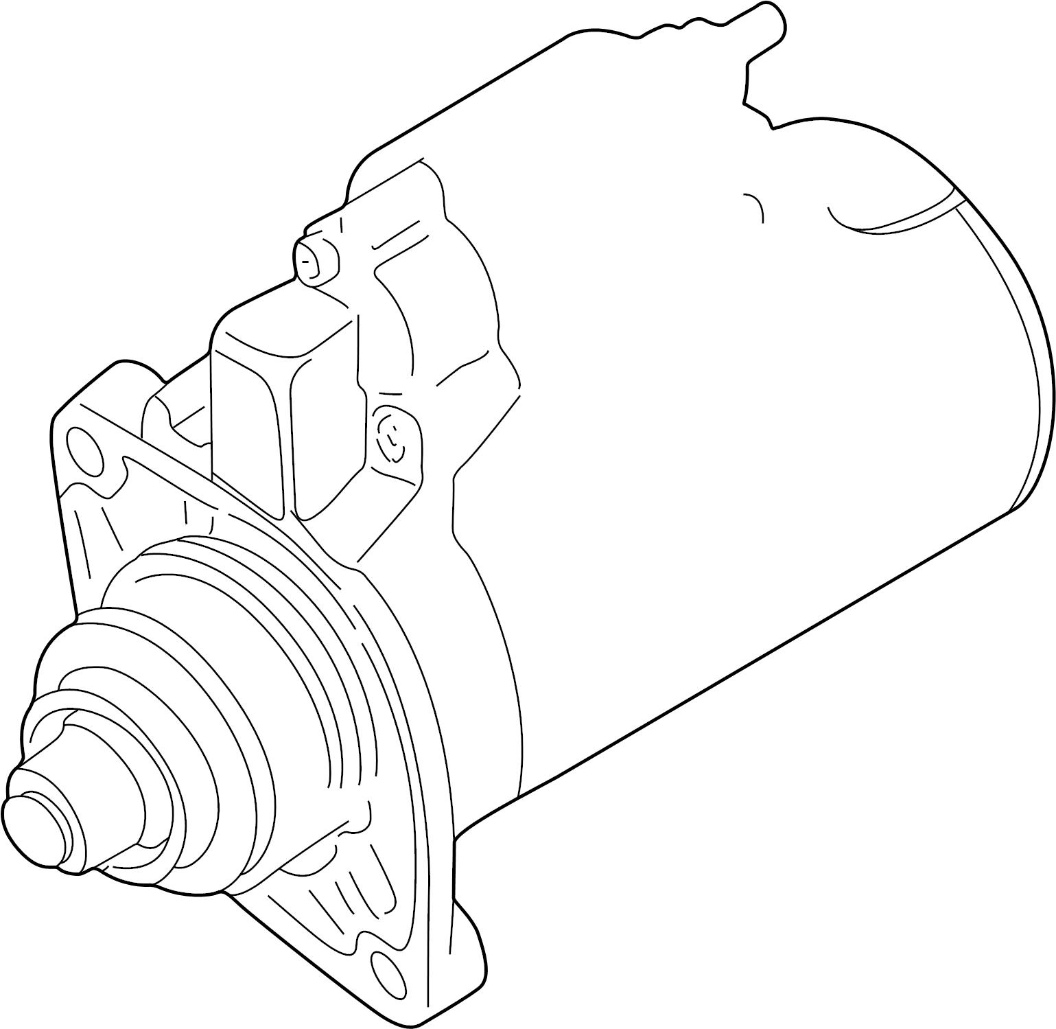 2003 Audi TT Base Coupe 1.8L M/T Quattro Starter Motor