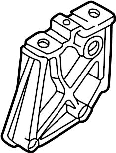 2004 Audi Manual Transmission Mount Bracket. LITER, ENGINE