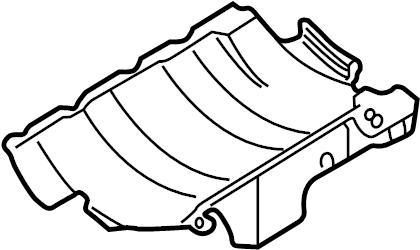 2001 Audi. Baffle plate. Oil pan baffle. Restrictor. Tray