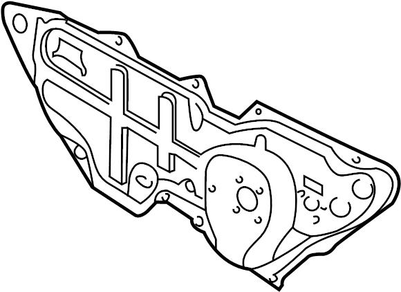 2002 Audi TT Firewall (Upper). DashPANEL. Firewall. Coupe
