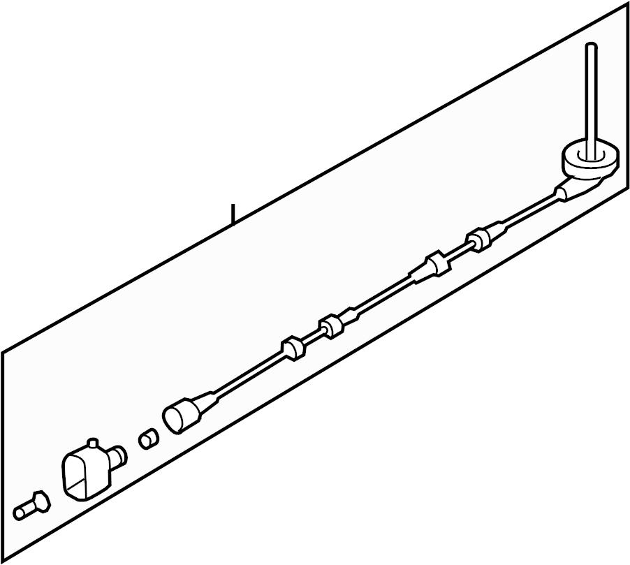 2009 Audi A3 Abs wheel speed sensor wiring harness