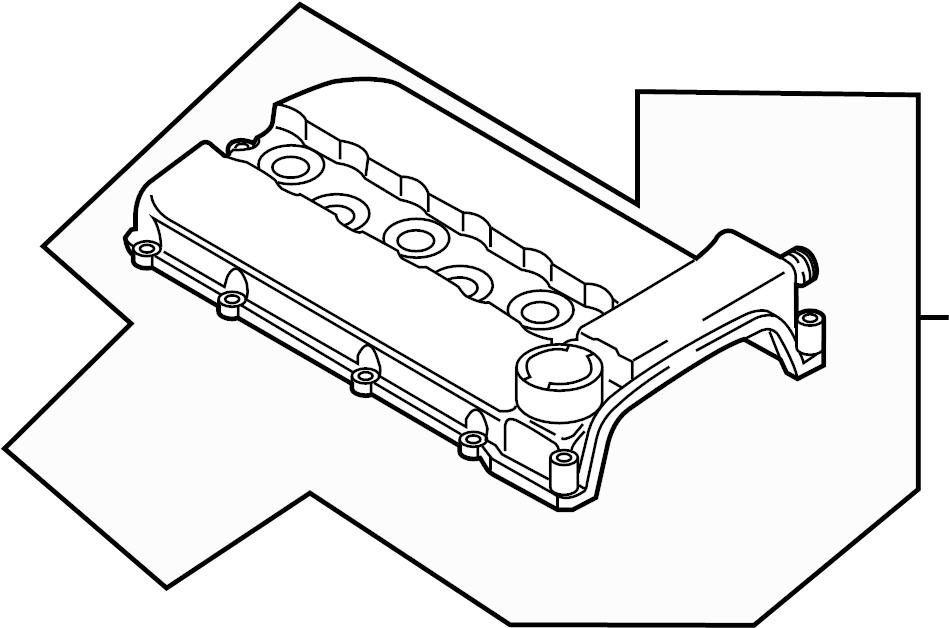 2005 Audi TT Base Convertible 3.2L V6 A/T Quattro Engine