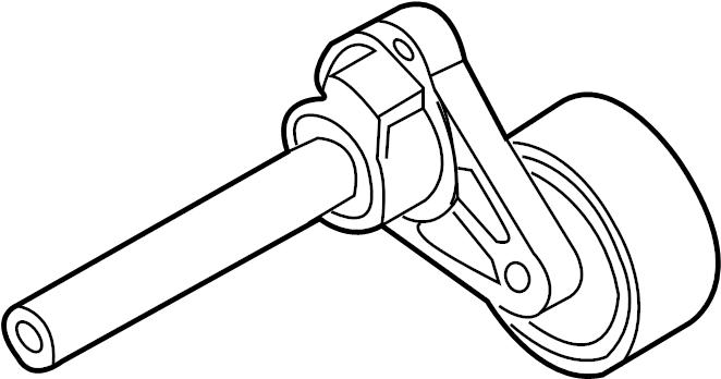 2014 Audi TT Accessory Drive Belt Tensioner Assembly