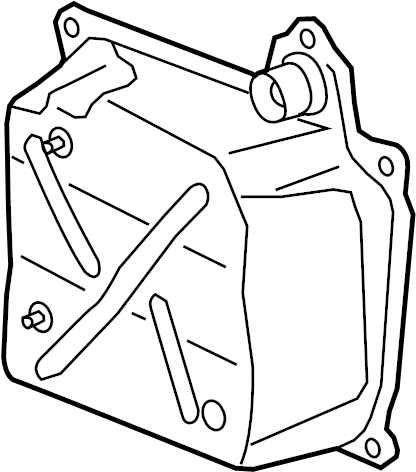 Audi TT 2.0L A/T AWD Automatic Transmission Oil Pan. Side
