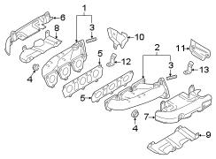 2018 Audi Q7 Exhaust manifold gasket. LITER, SYSTEM