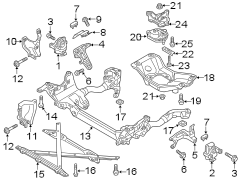 2016 Audi A4 Automatic Transmission Mount. RUBB MOUNT