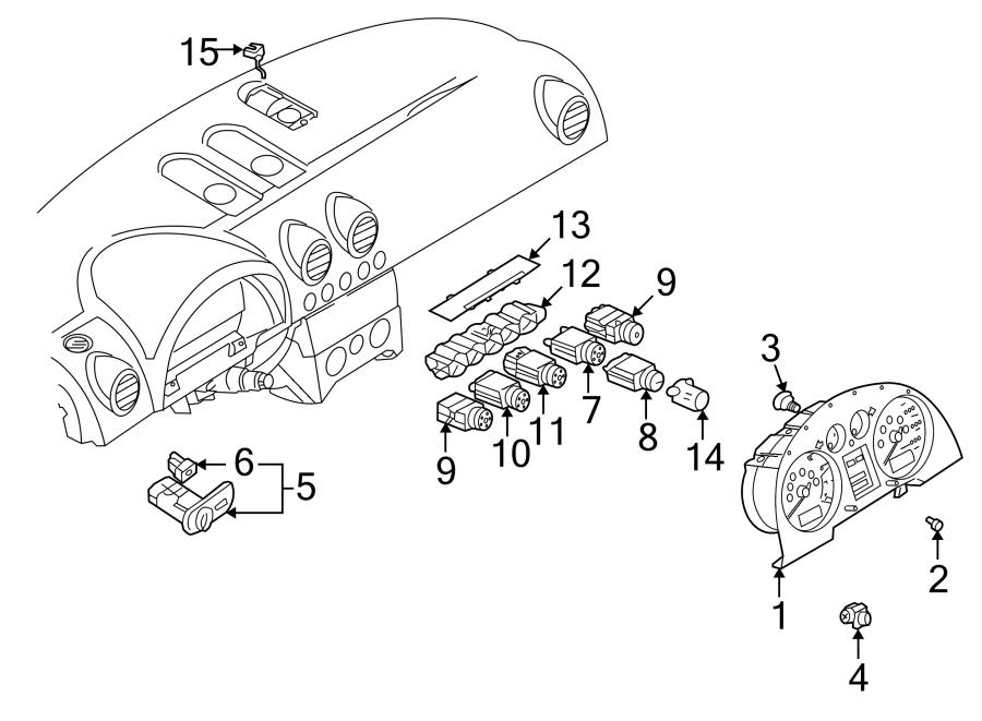 2001 Audi TT Vehicle Speed Sensor. Trans, Manual