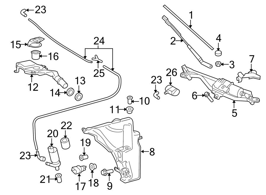 Audi A4 Windshield Wiper Blade (Front). Left, VIN