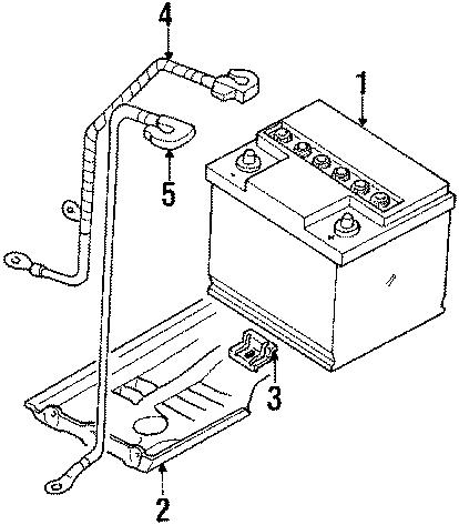 1986 Volkswagen Cabriolet Battery Hold Down. Tray, Bracket