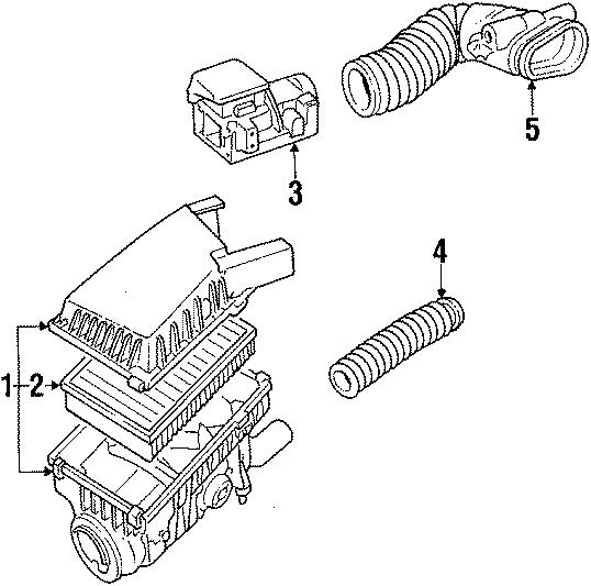 1987 Volkswagen Jetta GLI Air Filter. GAS, Engine, Valve
