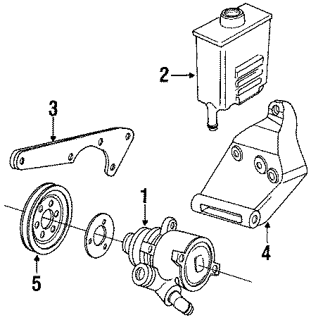 1989 Volkswagen Jetta Power steering pump. 2.0 liter