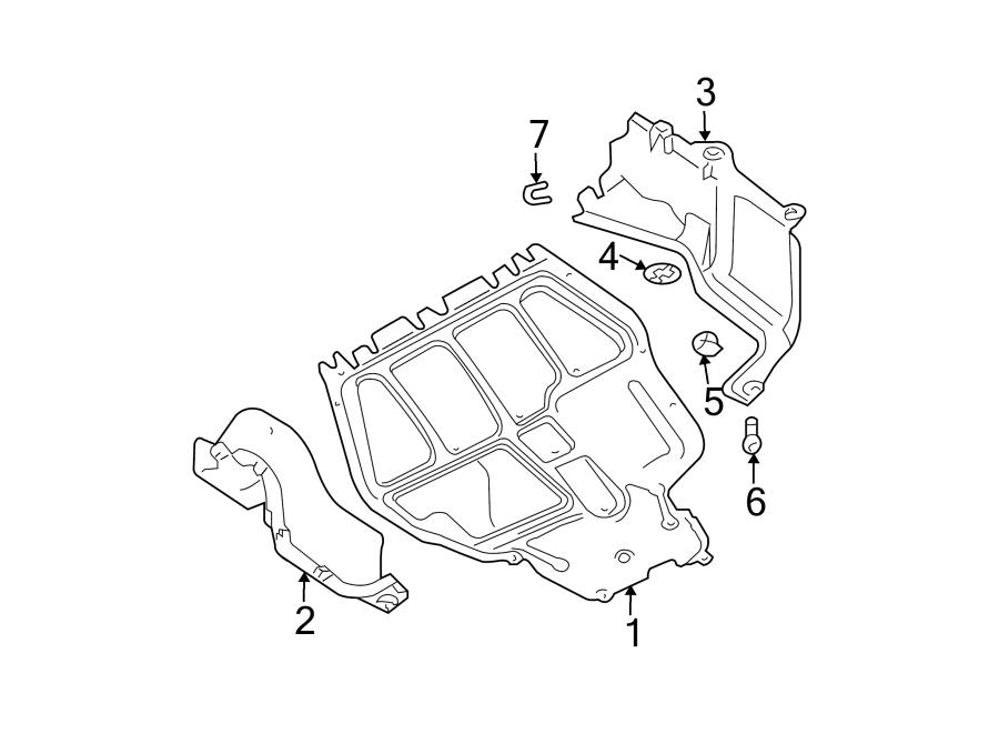2001 Volkswagen Beetle Radiator Support Splash Shield. 1.9