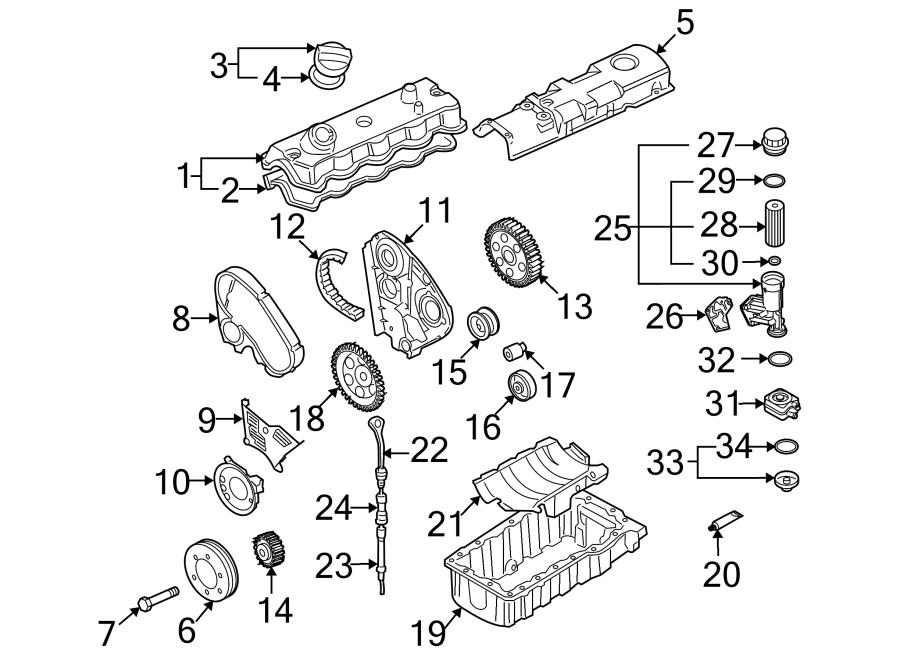 2005 Volkswagen Jetta Wagon Engine Oil Filter Adapter