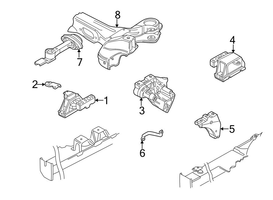 2006 Volkswagen Beetle Engine Mount Bracket. Manual