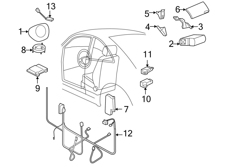 2010 Volkswagen Beetle Air Bag Wiring Harness. Air Bag