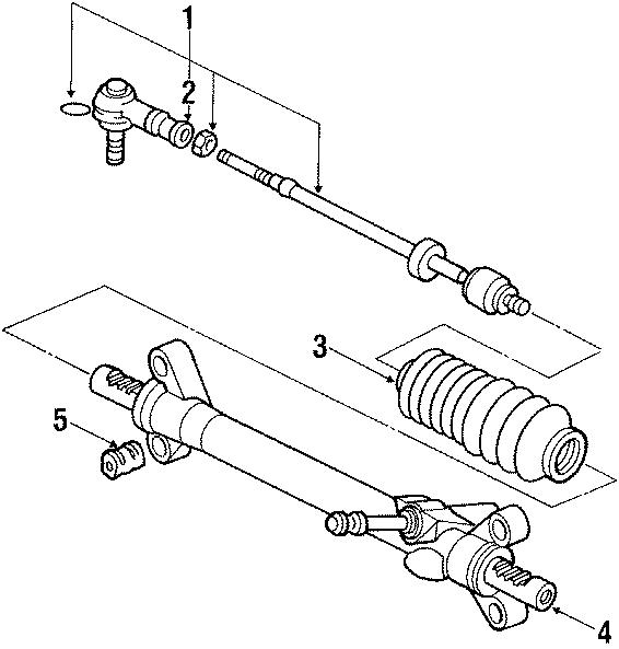 1987 Volkswagen Vanagon Rack and Pinion Bellows. TIE ROD