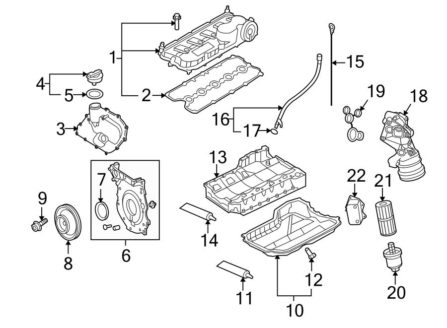 2009 Volkswagen Beetle Convertible Engine Oil Pan (Upper