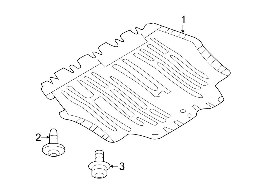 2014 Volkswagen Beetle Radiator Support Splash Shield