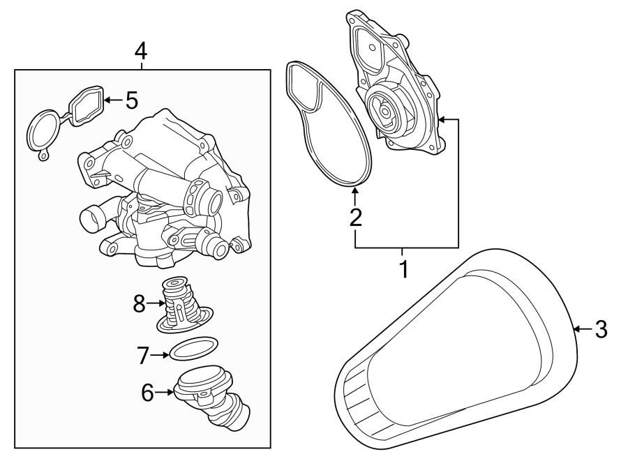 2016 Volkswagen Beetle Convertible Thermostat hsng gasket