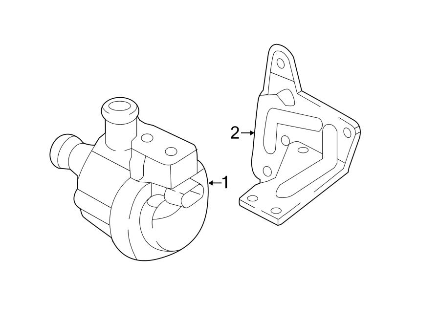 2015 Volkswagen Beetle Convertible Engine Water Pump