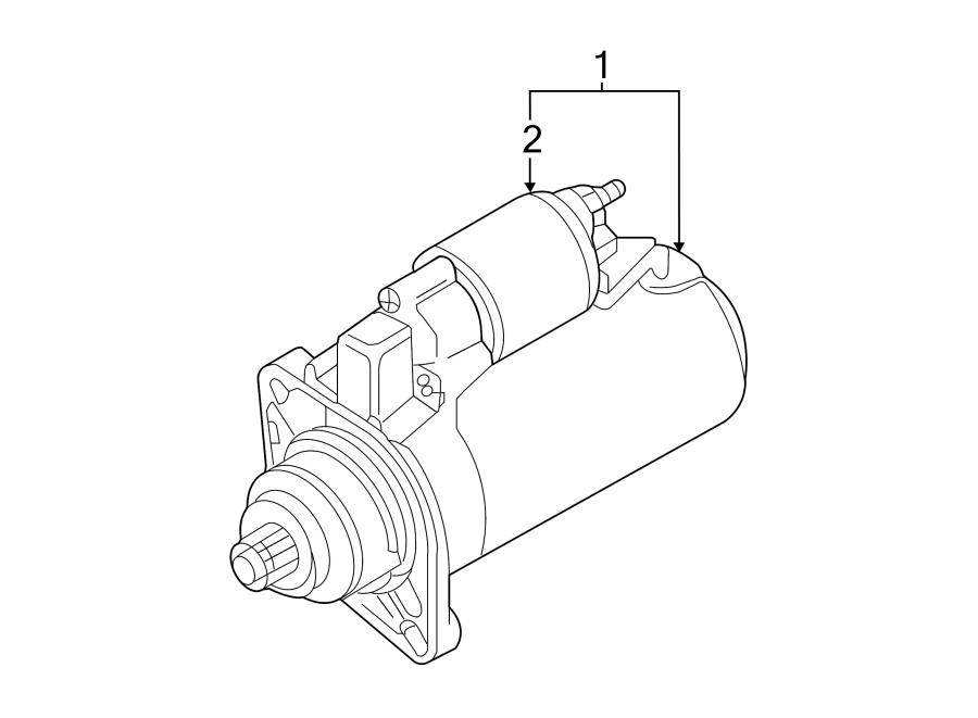 2014 Volkswagen Beetle Convertible Starter Motor. 1.8