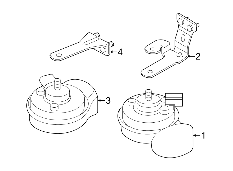 2013 Volkswagen Beetle Convertible Horn. High, Note
