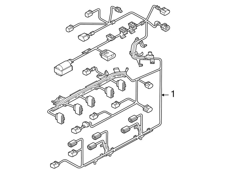 2013 Volkswagen Beetle Convertible Engine harness. Engine