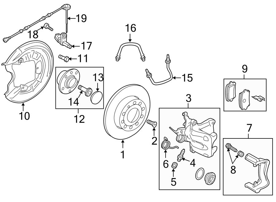 2016 Volkswagen Beetle Convertible Abs wheel speed sensor