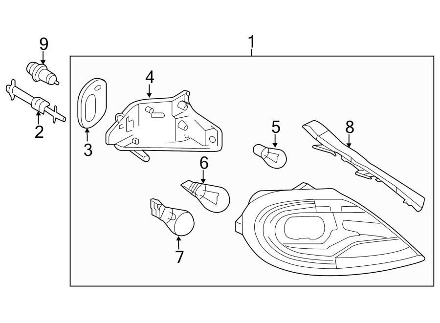 2014 Volkswagen Beetle Tail Light Gasket. Convertible, W/O