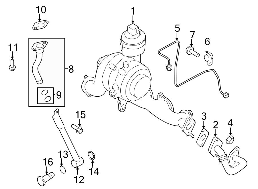 2014 Volkswagen Beetle Turbocharger Oil Line O-Ring