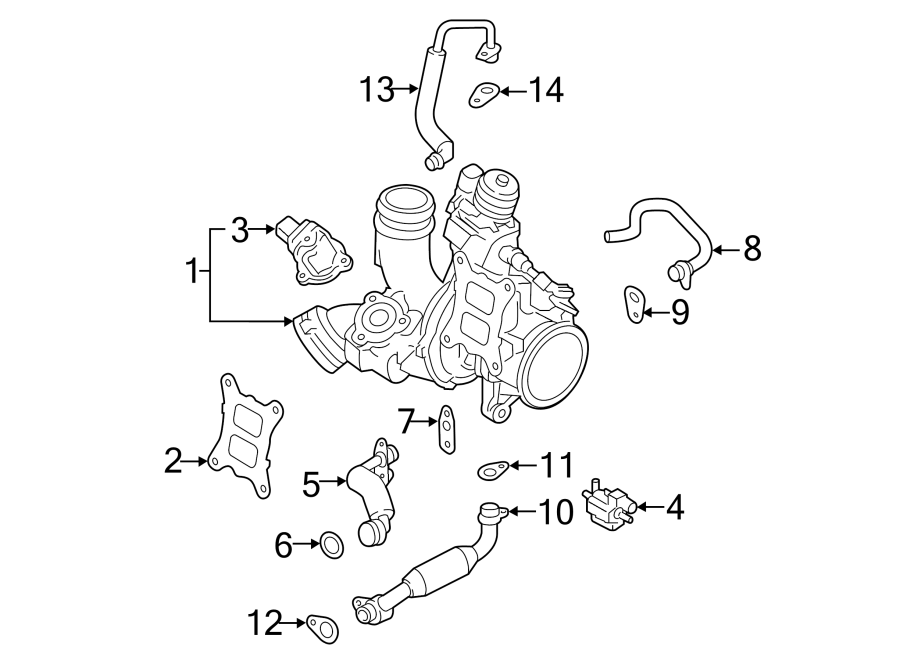 2014 Volkswagen Beetle Engine Coolant Hose. Turbocharger