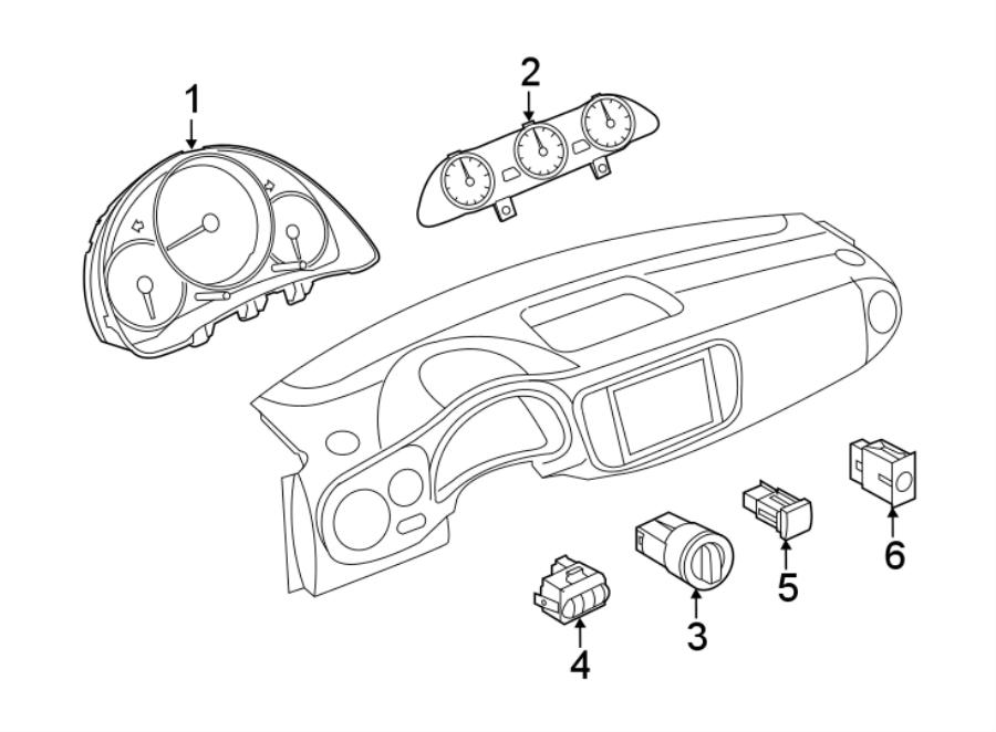 2019 Volkswagen Beetle Instrument Panel Dimmer Switch. Adj