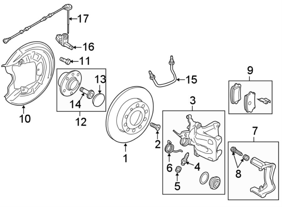 2019 Volkswagen Beetle Abs wheel speed sensor wiring