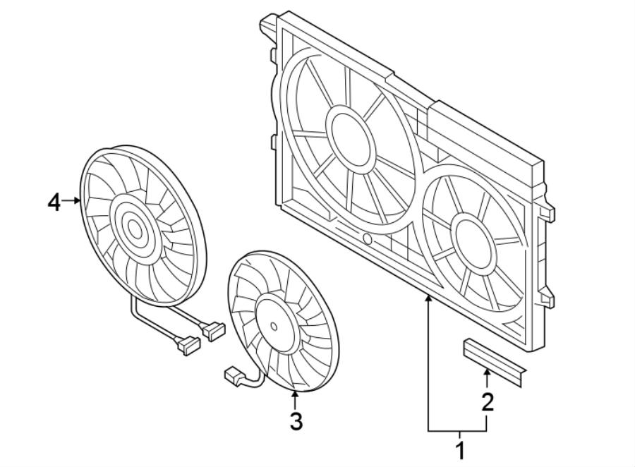 2018 Volkswagen Beetle Convertible Radiator Shutter