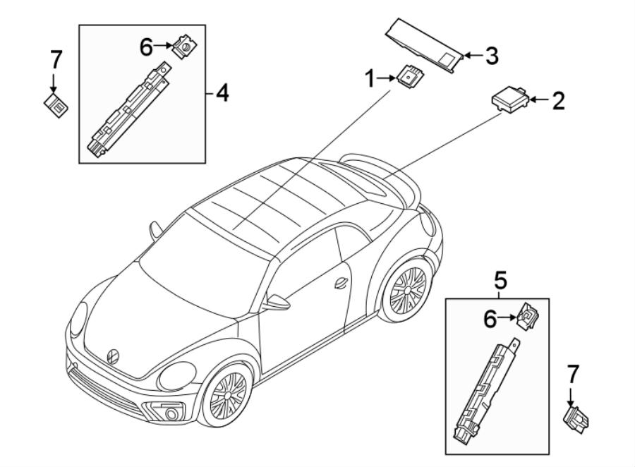 2018 Volkswagen Beetle Convertible Antenna Amplifier Nut