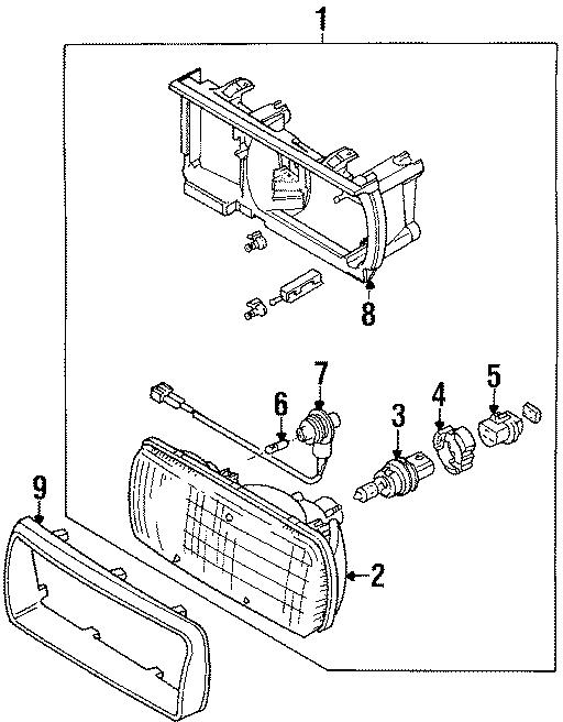 1994 Volkswagen Corrado Headlight Retaining Ring (Lower