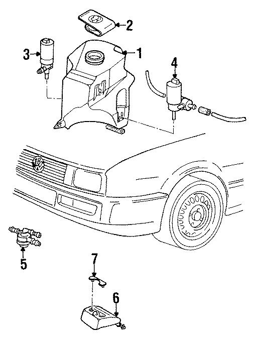 1992 Volkswagen Corrado Control valve. Two way valve