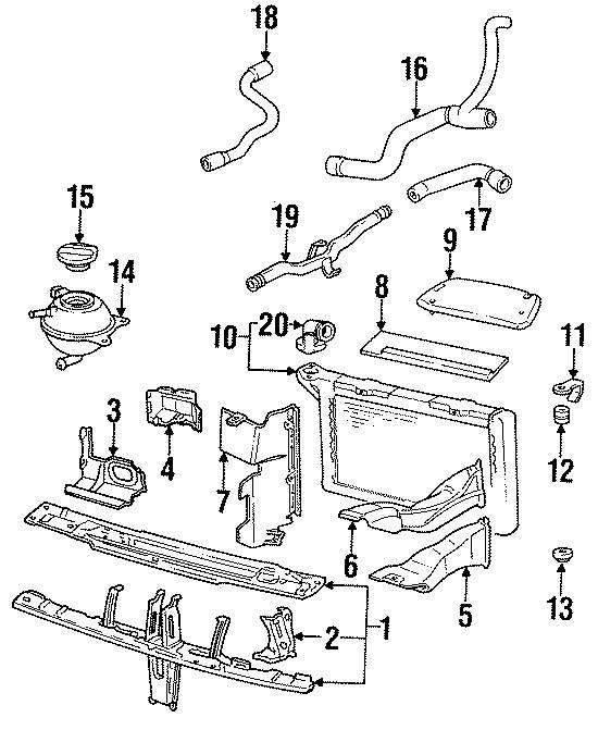 1991 Volkswagen Corrado Condenser. Radiator. Washer