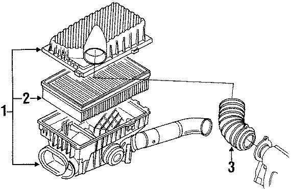 1991 Volkswagen Corrado Air Filter. Liter, Engine